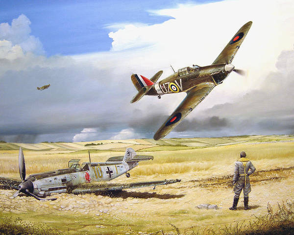 Painting Poster featuring the painting Outgunned by Marc Stewart