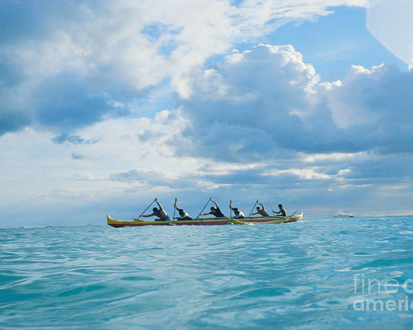 Afternoon Poster featuring the photograph Outrigger Canoe by Bob Abraham - Printscapes