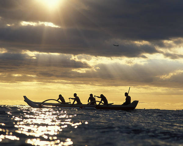Beam Poster featuring the photograph Outrigger Canoe by Vince Cavataio - Printscapes