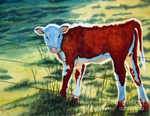 Animal Poster featuring the painting Outstanding In His Field by Gail Zavala
