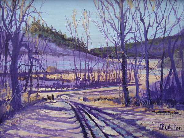 Winter Poster featuring the painting Over The Bridge And Through The Woods by Judy Fischer Walton