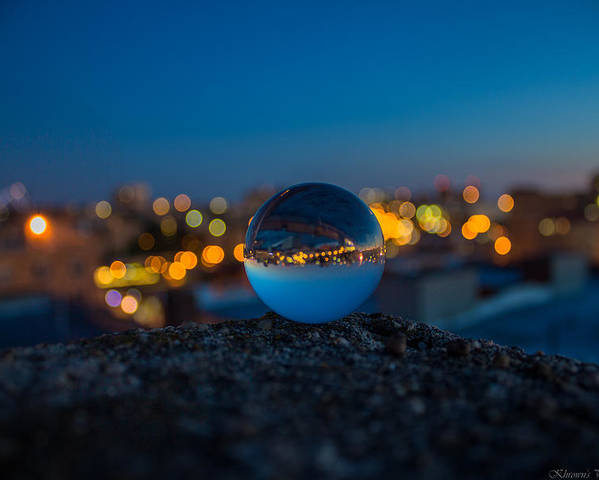 Magic Ball Poster featuring the photograph Over The Edge by Saul Tavarez