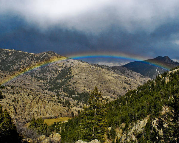 Rainbow Poster featuring the photograph Over The Hills by Matthew Fredricey