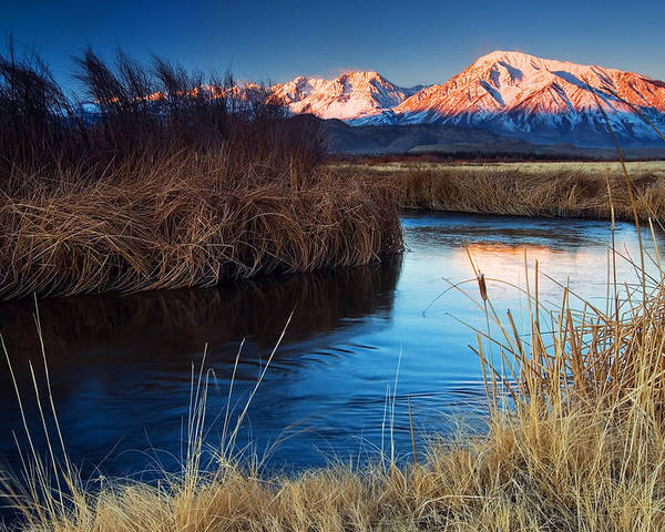 Eastern Sierra Poster featuring the photograph Owens River Sunrise by Nolan Nitschke