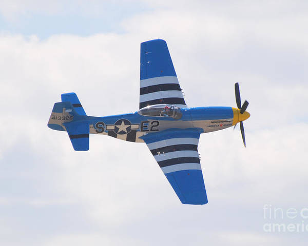 P 51 Poster featuring the photograph P-51 Mustang American Rose by Larry Keahey