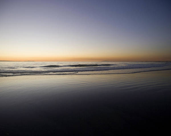 Water Poster featuring the photograph Pacific Ocean Dusk by Brad Rickerby