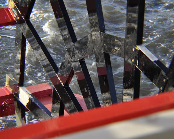 Paddle Wheel Poster featuring the photograph Paddle Wheel by Chuckie Sheridan