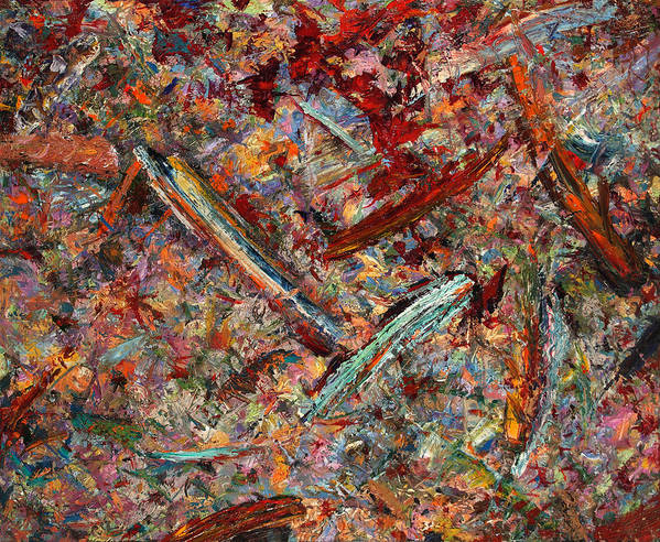 Abstract Poster featuring the painting Paint Number 30 by James W Johnson