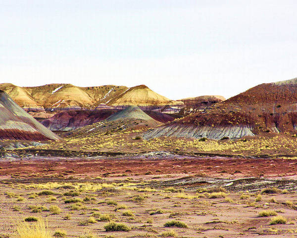 Photography Poster featuring the photograph Painted Desert Winter 0602 by Sharon Broucek