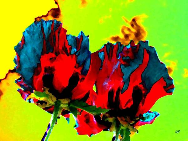 Poppies Poster featuring the digital art Painted Poppies by Will Borden