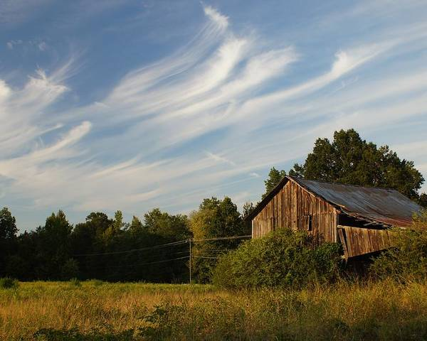 Barn Poster featuring the photograph Painted Sky Barn by Benanne Stiens