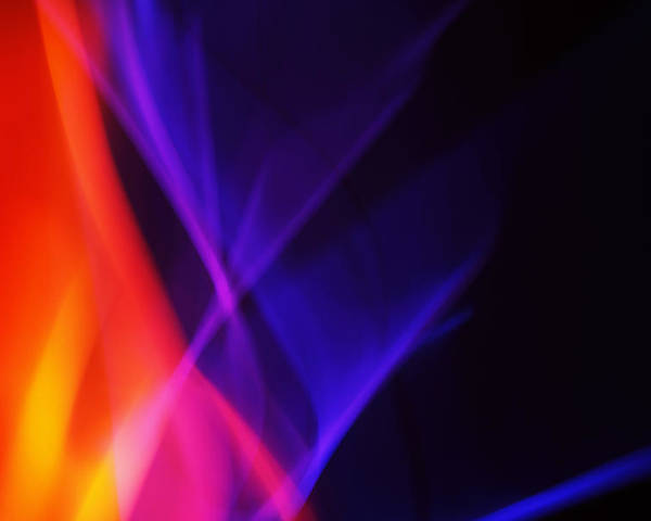 Abstract Poster featuring the photograph Painting With Light 3 by Chris Rodenberg