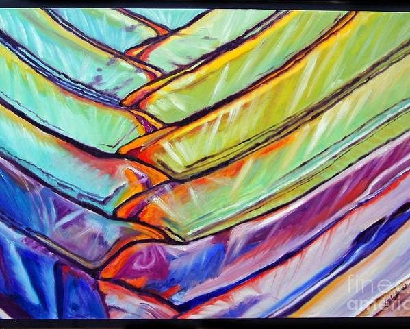 Abstract Poster featuring the painting Palm 1 by Gail Zavala