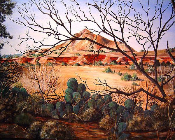 Palo Duro Canyon Poster featuring the painting Palo Duro Canyon by Cynara Shelton