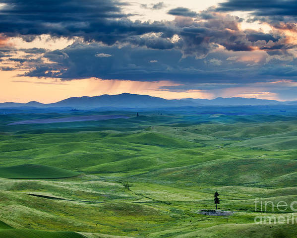 Palouse Hills Poster featuring the photograph Palouse Storm by Mike Dawson