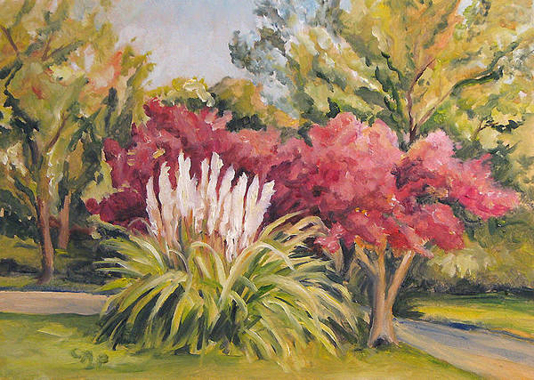 Pampas Grass Poster featuring the painting Pampas Landscape by Cheryl Pass