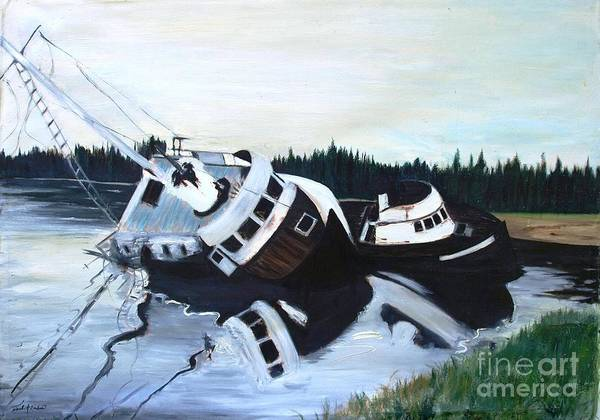 Boats Poster featuring the painting Pan Alaska by Julie Hakes