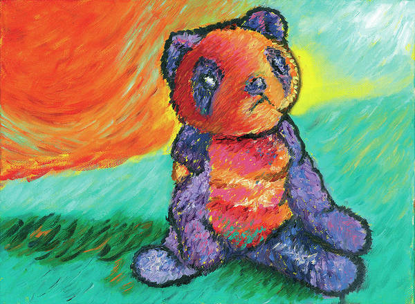 Panda Poster featuring the painting Panda 3 by Elise Aleman