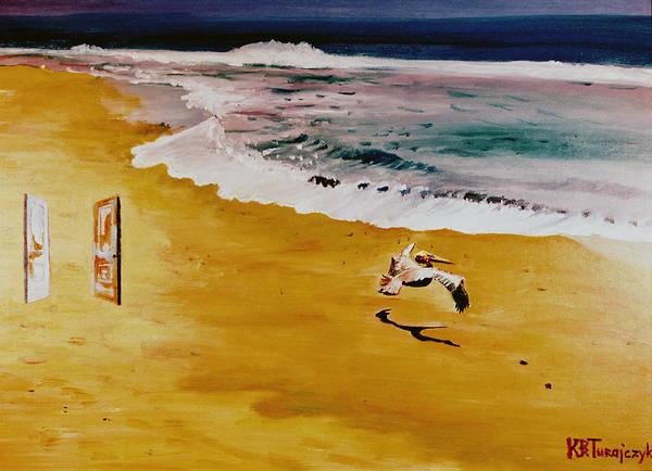Bird Poster featuring the painting Panta Rhei by Kasia Turajczyk