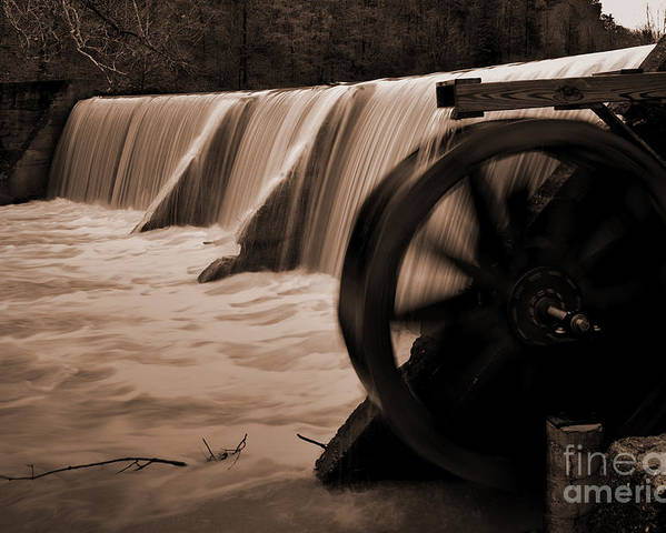 Arkansas Poster featuring the photograph Panther Valley Water Wheel by Fred Lassmann
