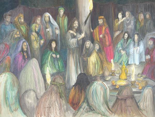 Christain Art Poster featuring the drawing Parables by Rick Ahlvers