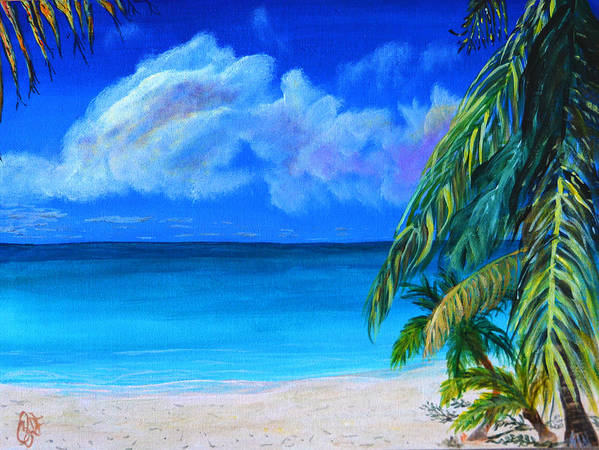 Paradise Poster featuring the painting Paradise by Christine Dekkers