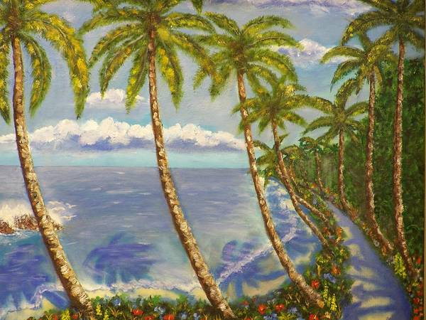Landscape Poster featuring the painting Paradise Island by Charles Vaughn