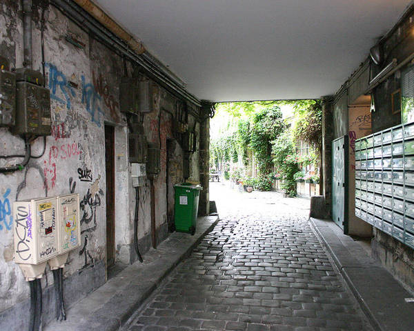 Poster featuring the photograph Paris - Alley 2 by Jennifer McDuffie