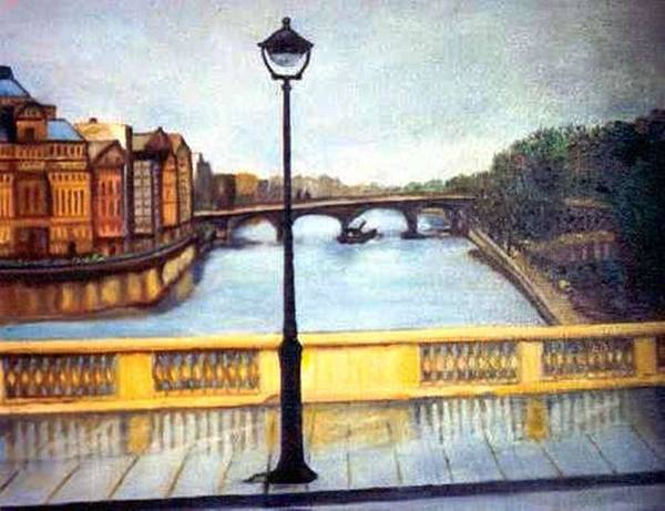 Houses Poster featuring the painting Paris After The Rain by Gloria M Apfel