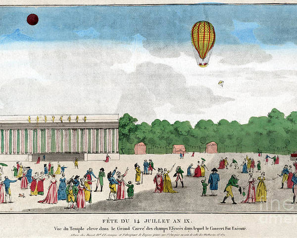 1801 Poster featuring the photograph Paris: Bastille Day, C1801 by Granger