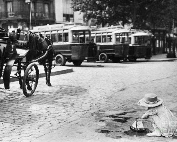 1920 Poster featuring the photograph Paris: Boulevard De Clichy by Granger