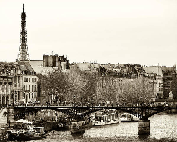Paris Days Poster featuring the photograph Paris Days by John Rizzuto