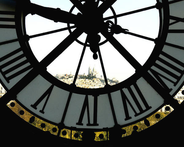 Clock Poster featuring the photograph Paris Through The Clock by Charles Ridgway