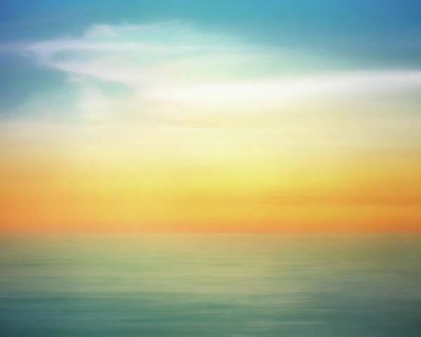 Pastel Poster featuring the digital art Pastel Sunrise by Scott Norris