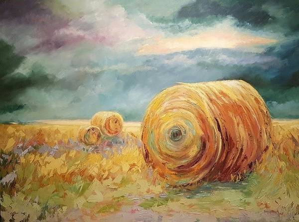 Pasture Landscapes Poster featuring the painting Pasture Ornament by Ginger Concepcion