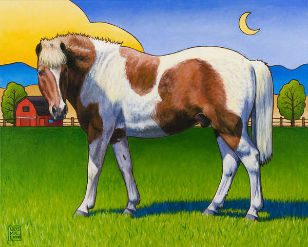 Pony Poster featuring the painting Patches by Stacey Neumiller