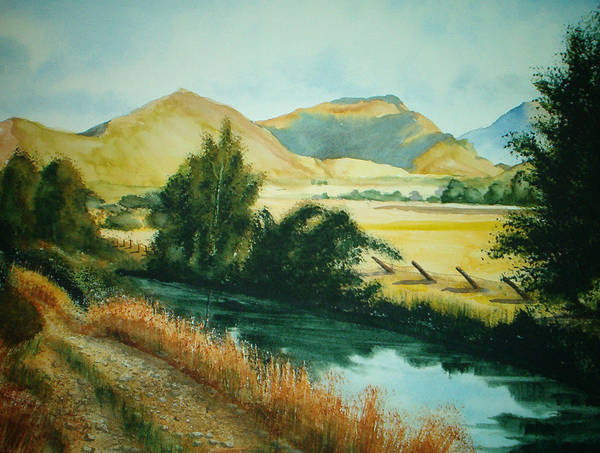 Landscape Poster featuring the painting Path To Braithwaite by Shirley Braithwaite Hunt