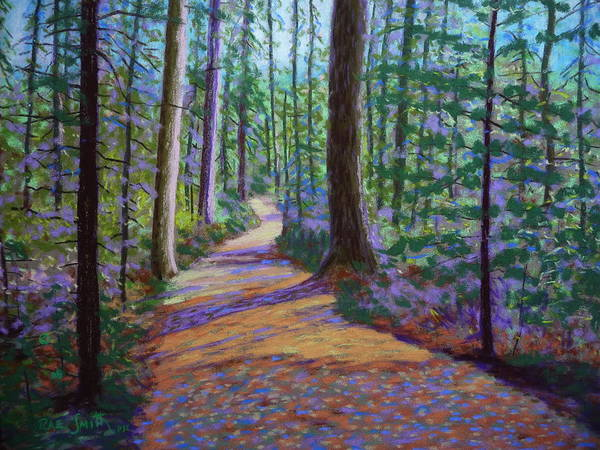 Landscape Poster featuring the pastel Path To Hubbards Farm Market by Rae Smith