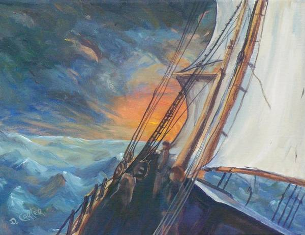 Seascape Poster featuring the painting Pathfinder by David Carter