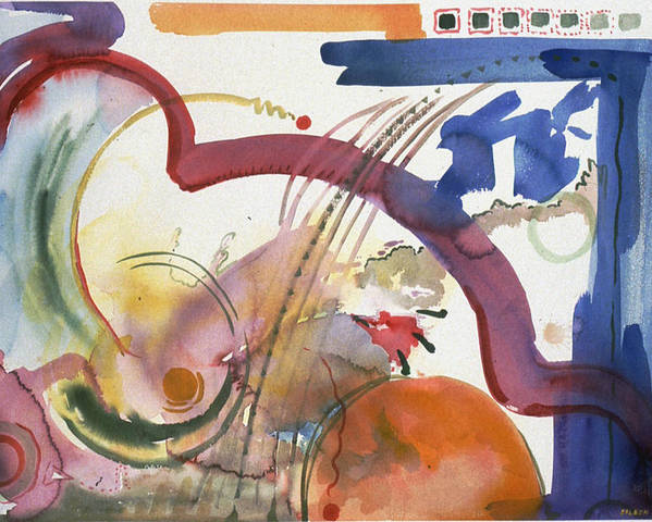 Abstract Poster featuring the painting Paths And Places by Eileen Hale