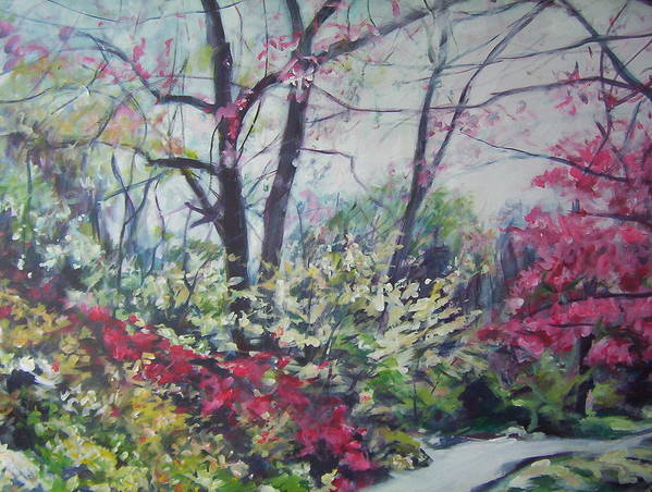 Landscape Poster featuring the painting Pathway To Glory by Sheila Holland