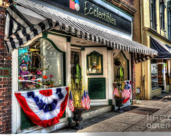 City Poster featuring the photograph Patriotic Street by Debbi Granruth