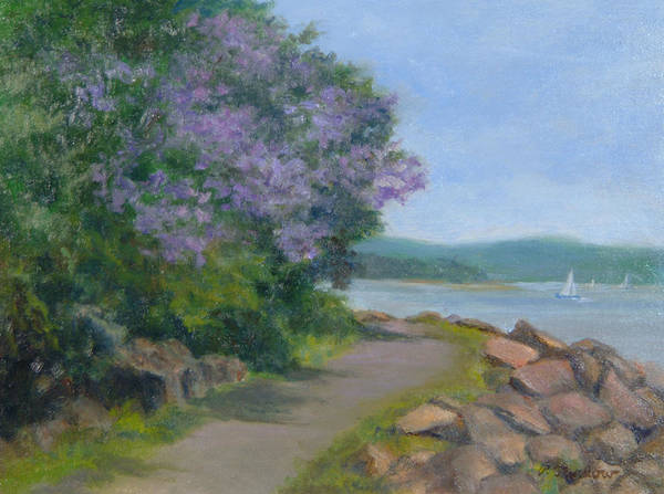 Oil Landscape Poster featuring the painting Paulownia Along The Nyack Trail by Phyllis Tarlow