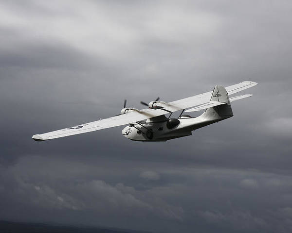 Transportation Poster featuring the photograph Pby Catalina Vintage Flying Boat by Daniel Karlsson