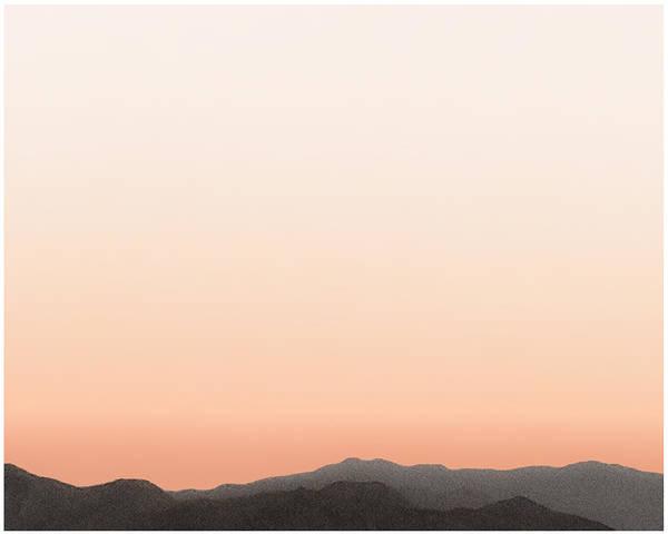 San Jacinto Mountain Range Poster featuring the painting Peach San Jacintos by Stan Magnan