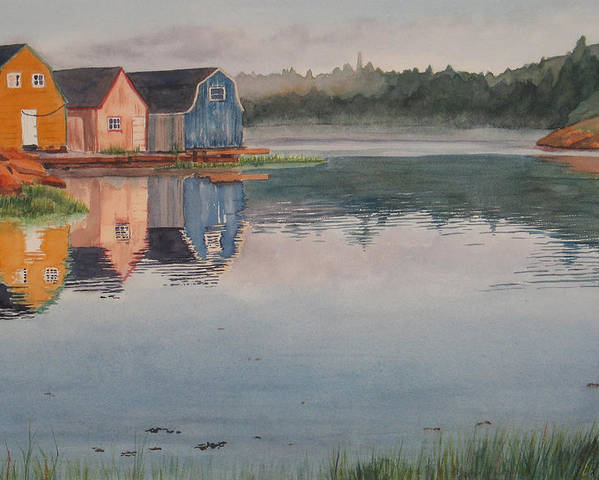 Pei Poster featuring the painting P.e.i. Morning by Debbie Homewood