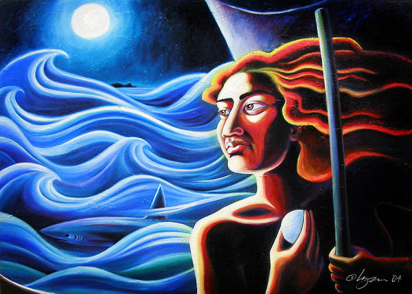 Oil Paintings Poster featuring the painting Pele Searches For Home by Angela Treat Lyon