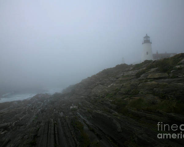 Pemaquid Poster featuring the photograph Pemaquid And The Sea by Timothy Johnson