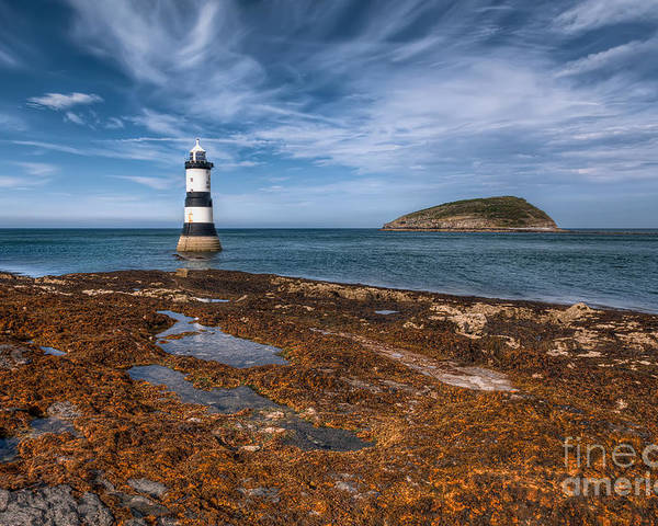 Anglesey Poster featuring the photograph Penmon Lighthouse by Adrian Evans