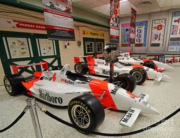 Penske Poster featuring the photograph Penske Racing Indy 500 Hall Of Fame Museum by Steve Gass